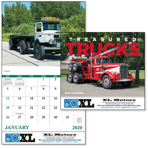 Stapled Treasured Trucks Vehicle 2020 Appointment Calendar