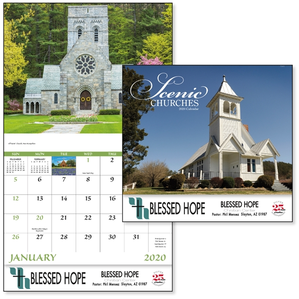 Stapled Churches Scenic 2020 Appointment Calendar