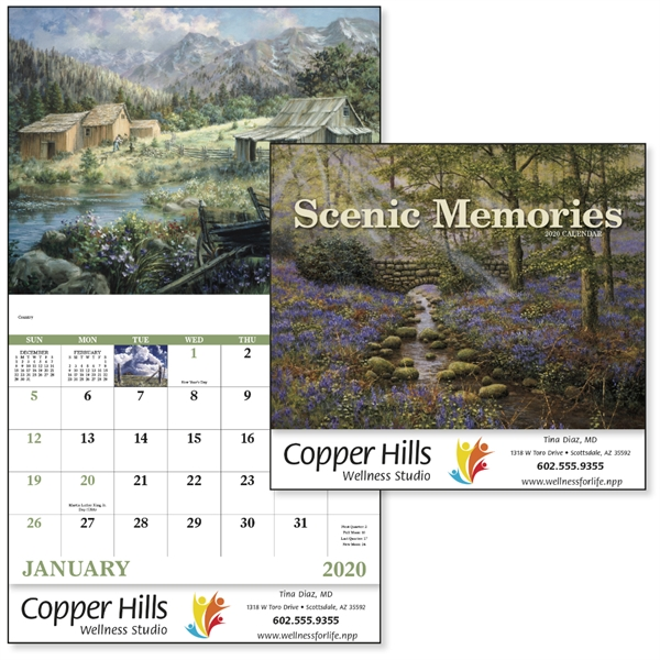 Stapled Scenic Memories 2020 Appointment Calendar