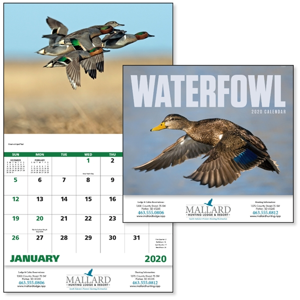 Stapled Waterfowl 2020 Appointment Calendar