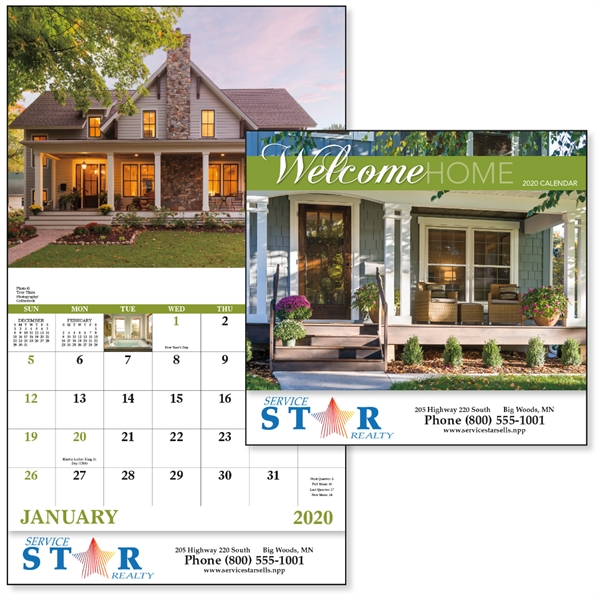Stapled Welcome Home Lifestyle 2020 Appointment Calendar