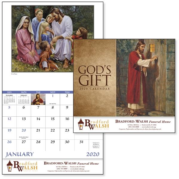 Stapled God's Gift Religious 2020 Appointment Calendar