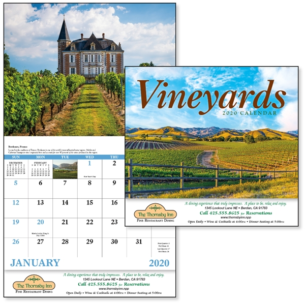 Stapled Vineyards 2020 Appointment Calendar