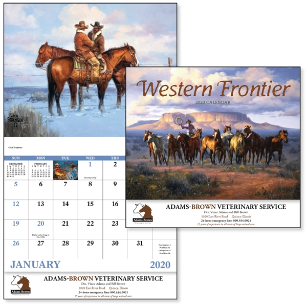 Stapled Western Frontier Americana 2020 Appointment Calendar