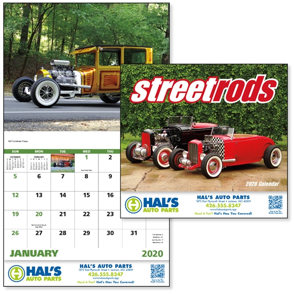 Stapled Street Rods Vehicle 2020 Appointment Calendar