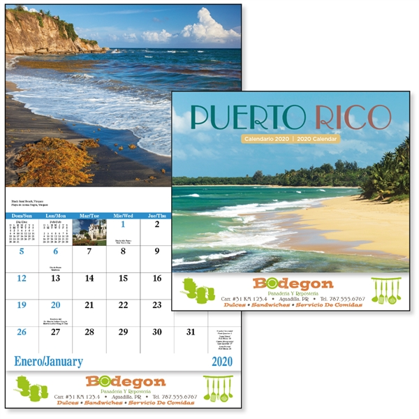 Stapled Puerto Rico Scenic 2020 Appointment Calendar