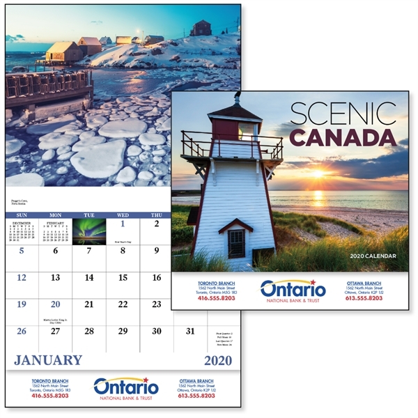 Stapled Scenic Canada 2020 Appointment Calendar