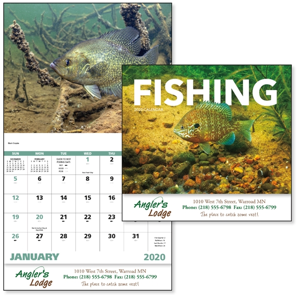 Stapled Fishing Sports/Wildlife 2020 Appointment Calendar