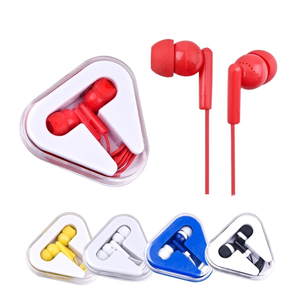 Earphones with Triangle Case