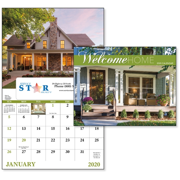 Window Welcome Home Lifestyle 2020 Appointment Calendar