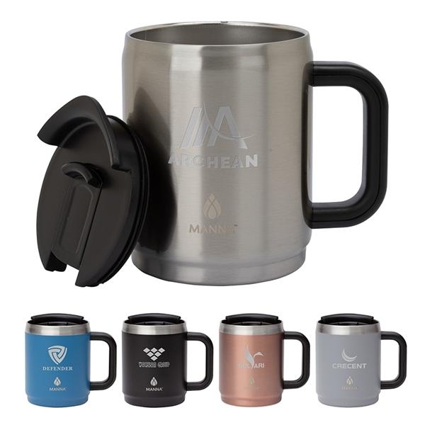 Manna™ 14 oz. Boulder Stainless Steel Camping Mug w/ Handle