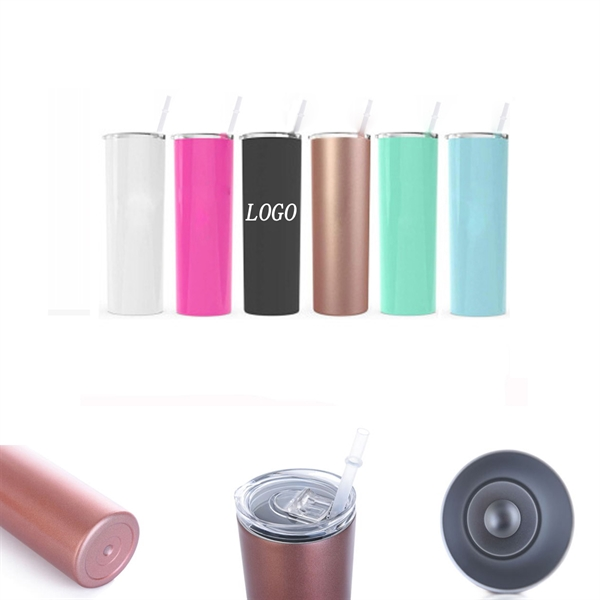 Double Wall Stainless Steel Water Bottle with Straw