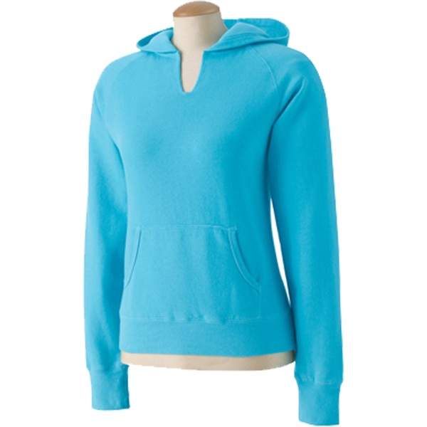 Comfort Colors Women's Garment-Dyed Front-Slit Pullover Hood
