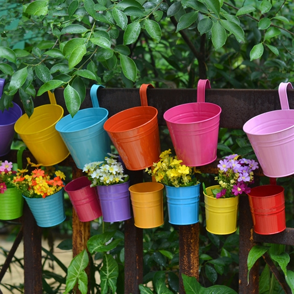 Iron Hanging Flower Pots With Hook