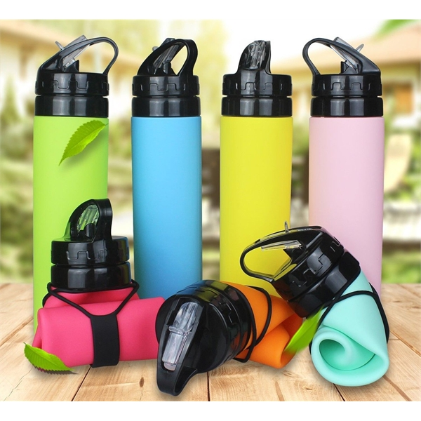 Foldable Silicone Outdoor Sports bottle