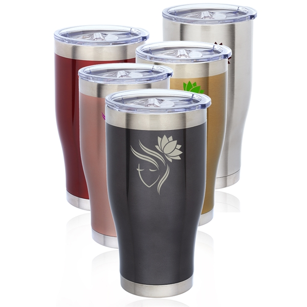 24 oz. Avalon Metallic Stainless Steel Travel Mug