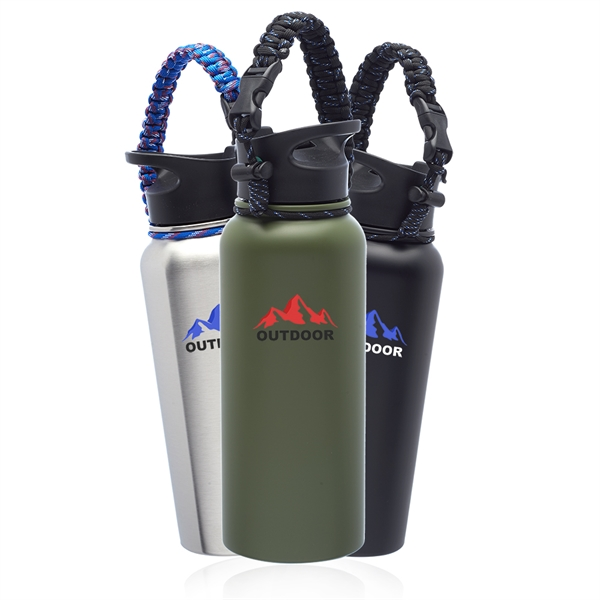 34 oz. Vulcan Stainless Steel Water Bottles with Strap