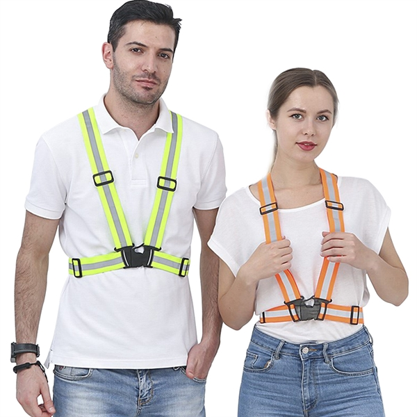 Adult Reflective Vest Suspenders