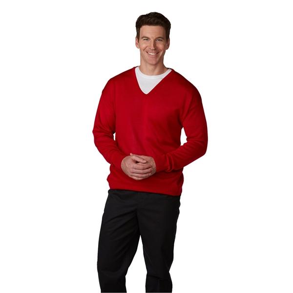 Men's Fine-Gauge V-Neck Pullover Sweater