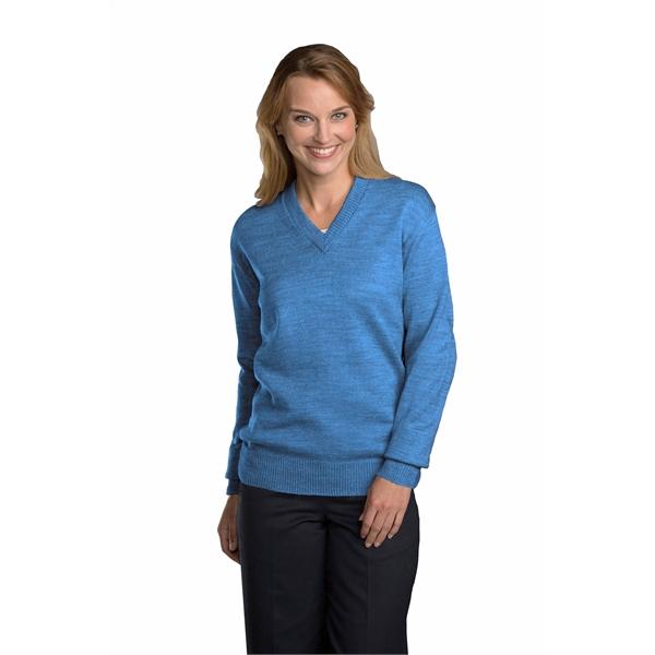 Unisex Jersey Knit V-Neck Pullover Sweater