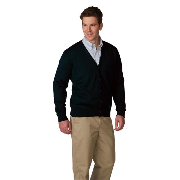 Unisex Jersey Knit 5-Button V-Neck Cardigan