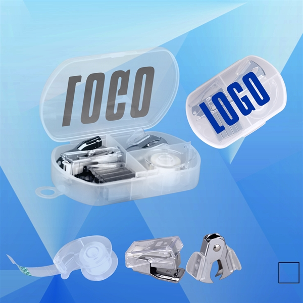 Mini Stapler and Tape Case