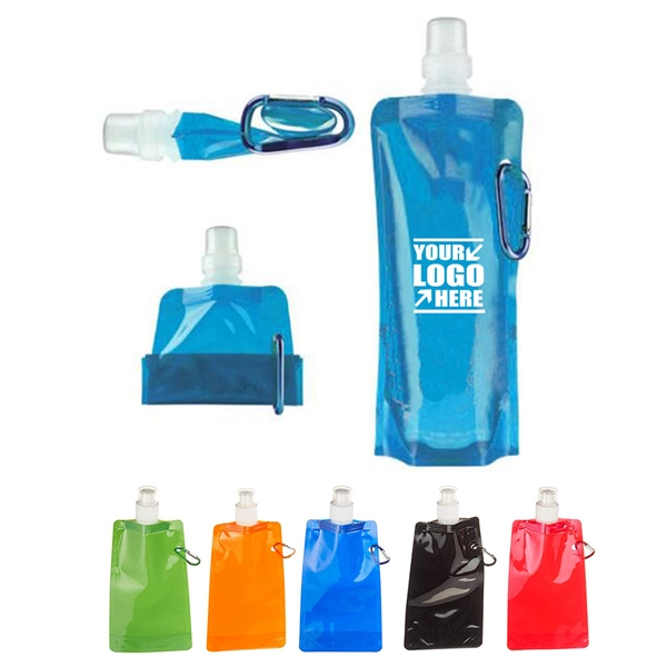 Collapsible Water Bottle with Carabiner