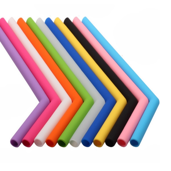 Silicone Straw Set With Brush