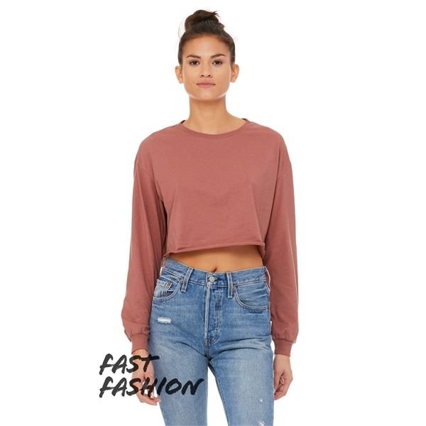 BELLA + CANVAS FWD Fashion Women's Cropped Long Sleeve Tee