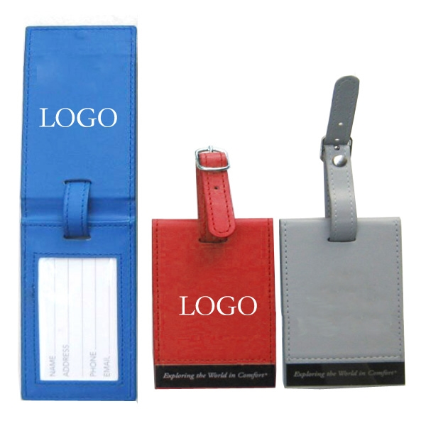 Executive Leather Luggage Tag