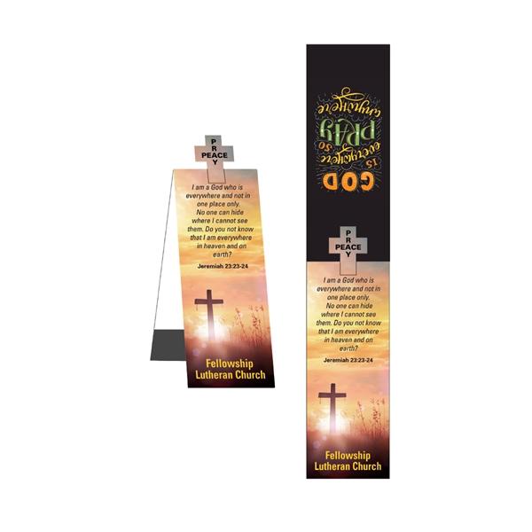 Cross Shape Die Cut Bookmark