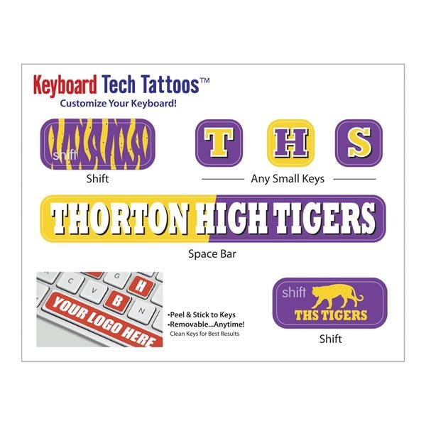 "Keyboard Tech Tattoos™ (4 1/2"" x 3 1/2"" Sheet)"