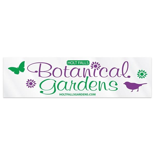 """Clear Polyester Rectangle Bumper Sticker (2 1/2""""x9 1/4"""")"""