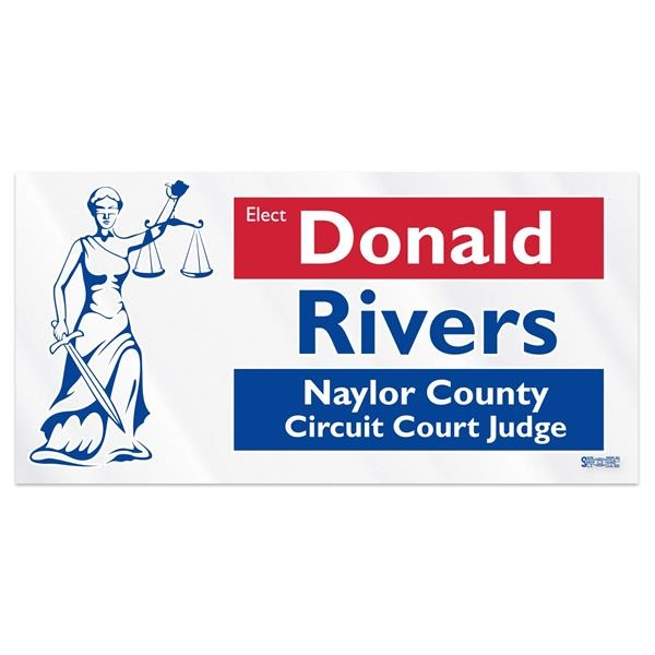 """Clear Polyester Rectangle Bumper Sticker (3 3/4""""x7 1/2"""")"""