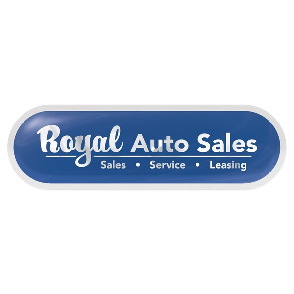 Poly Permanent Adhesive Rectangle Domed Decal