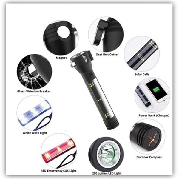 9-IN-1 LED Multi-Function Flashlight