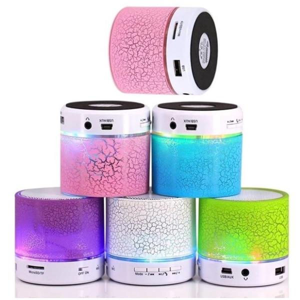 LED Mini Wireless Bluetooth Speaker TF USB Portable Loudspea