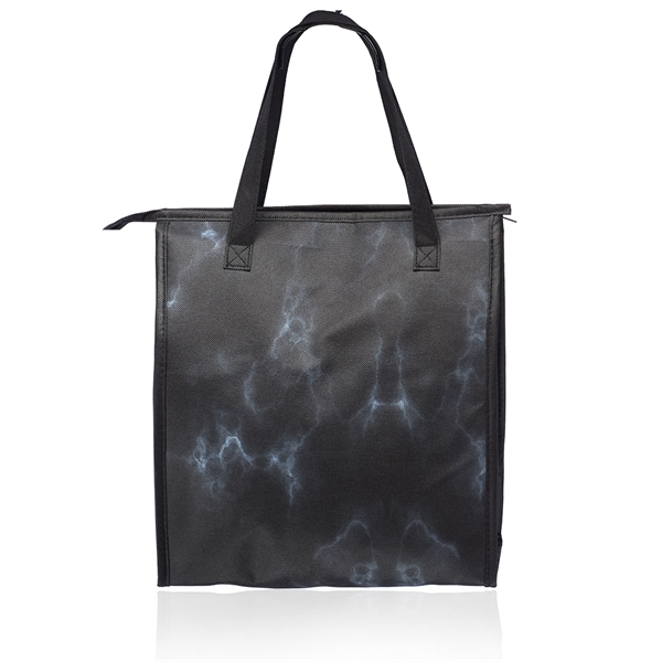 Marble Insulated Tote Bag with Pocket