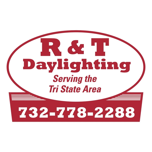 Oval w/ Rectangle Bottom Truck Signs & Equipment Decal (12