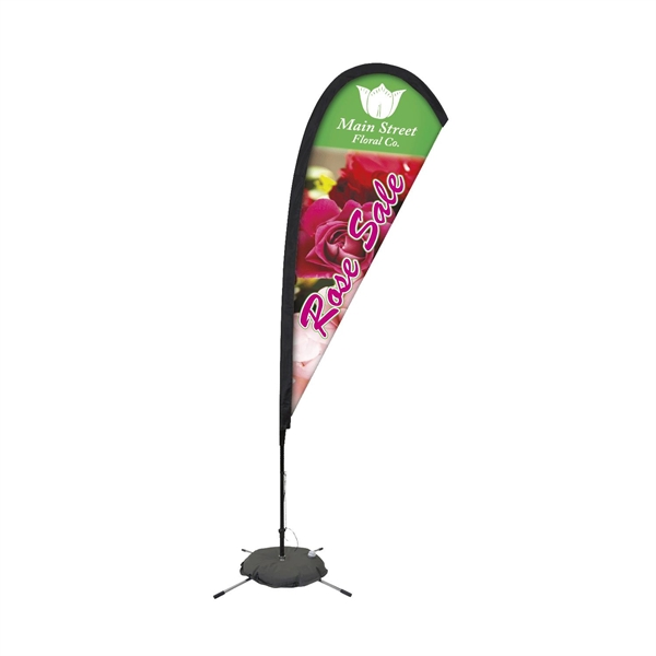 Promotional Premium Feather Flag w/ 8' Scissor Base