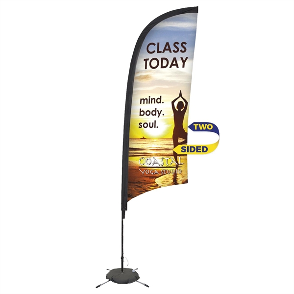 Promotional Premium 9' Feather Flag w/Scissor Base (2 sided)