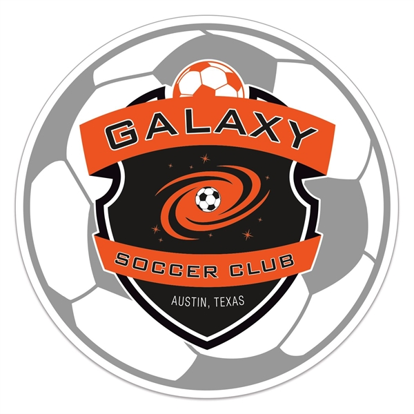 Soccer Ball Full Color Sports Magnet