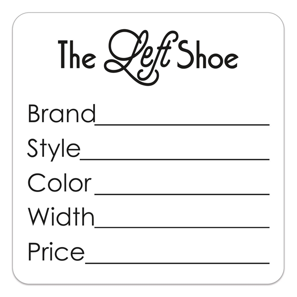 Value Line Square 1 or 2 Color Die Cut Roll Label