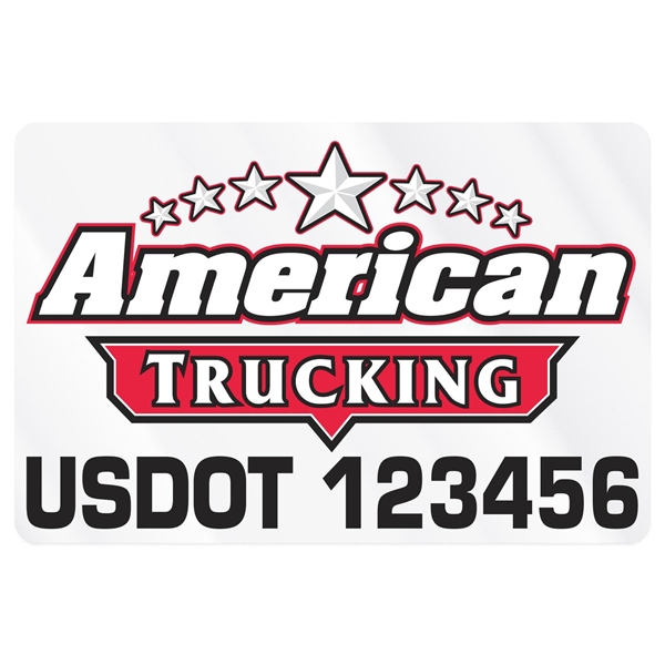 Rectangle w/ Rounded Corners Truck Signs & Equipment Decal