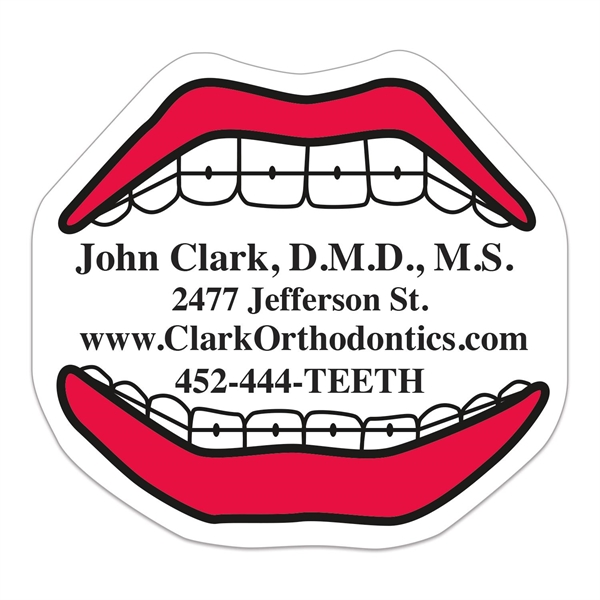 Mouth Vinyl Die Cut Small Stock Magnet
