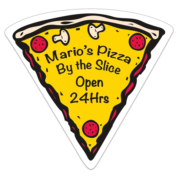 Pizza Slice Vinyl Die Cut Medium Stock Magnet