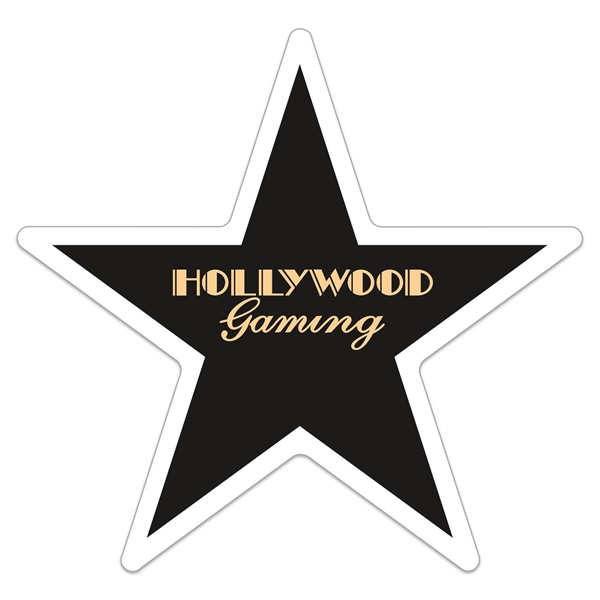 5 Point Star Thick Vinyl Die Cut Large Stock Magnet