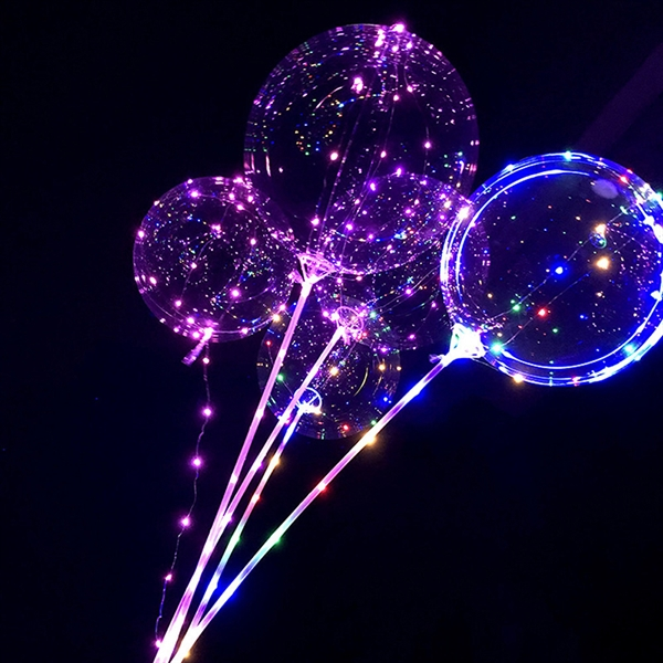Clear Plastic Balloons with LED Light