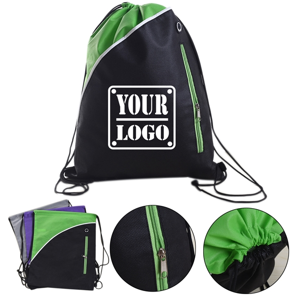 Two-Tone Non-woven Drawstring Backpack