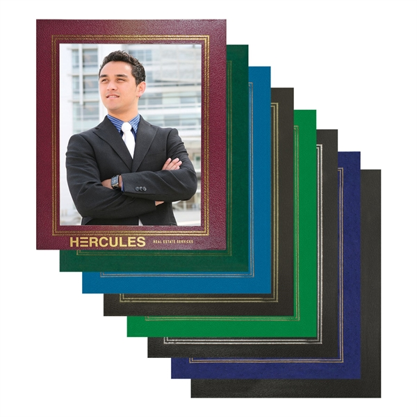Leatherette Picture Frame holds 8.5